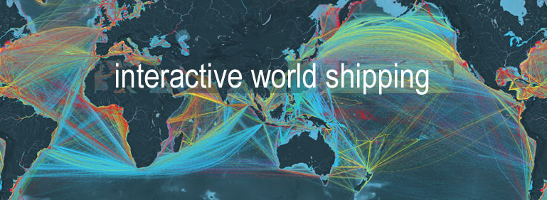 world shipping graphic